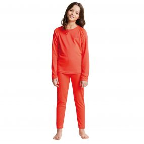 Kids Cool Off II Base Layer Set Fiery Coral