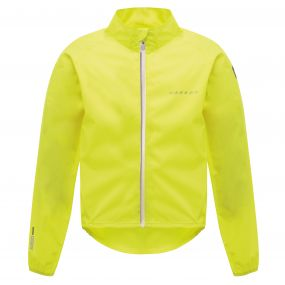 Kids Ensue Cycle Jacket Fluro Yellow