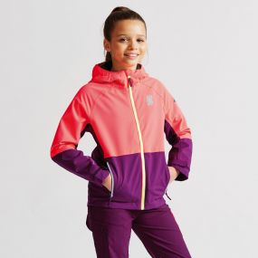 Kids Modulate Jacket Neon Pink/Blackcurrant