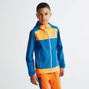 Kids Renounce Jacket Kingfisher Shocking Orange