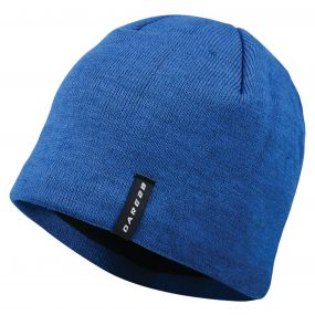 Men's Prompted Beanie Hat Oxford Blue