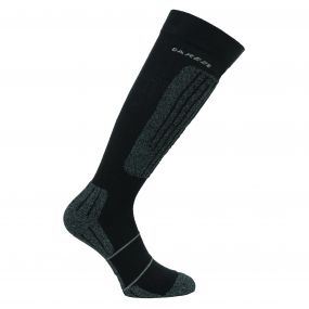 Mens Contoured II Ski Sock Black