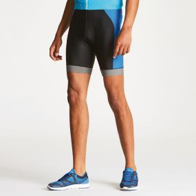 Men's Sidespin Gel Cycling Shorts Black/National Blue