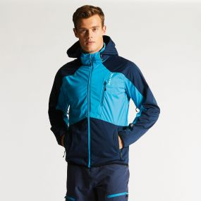 Men's Predicate Softshell Jacket Fluro Blue/Admiral Blue