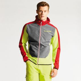 Men's Appertain Softshell Jacket Lime Punch/Danger Red