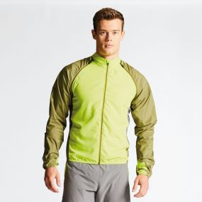 Men's Unveil II Windshell Jacket Lime Punch/Cardamom