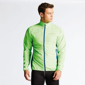Men's Fired Up II Windshell Jacket Neon Green