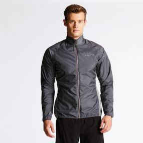 Men's Fired Up II Windshell Jacket Charcoal Grey