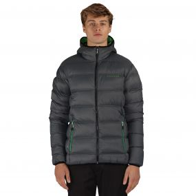Men's Downtime Down Fill Insulated Jacket Ebony Grey