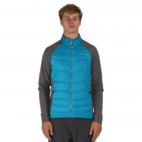 Edge Off Hybrid Jacket Blue Aluminium