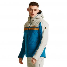 Men's Throwback Ski Jacket Titan/Oatmea