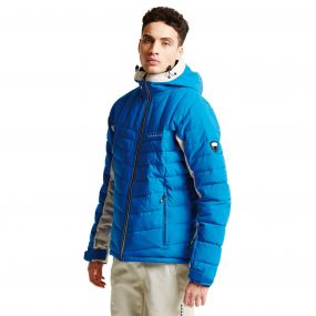 Men's Intention II Ski Jacket Oxford Blue Oatmeal