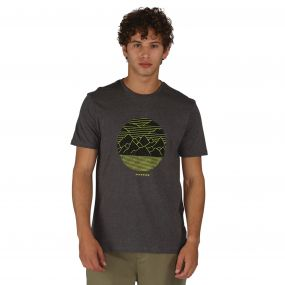 Mountainous T-Shirts Charcoal Marl