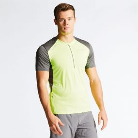 Men's Attest Workout T-Shirt Fluro Yellow/Charcoal