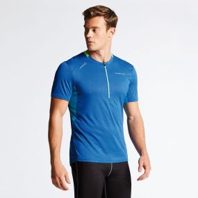 Men's Attest Workout T-Shirt National/Fluro Blue