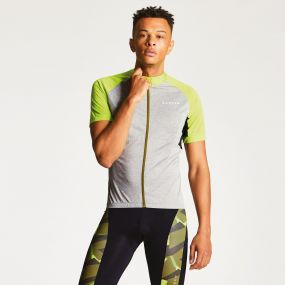 Men's Sequal Cycle Jersey Ash/Lime Punch