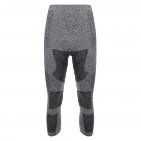 Zonal III Quarter Leggings Charcoal Grey
