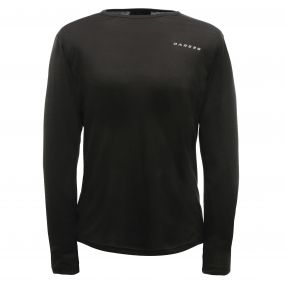 Men's Insulate Long Sleeve Base Layer Top Black
