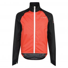 AEP Chaser Cycle Jacket Fiery Red   Black