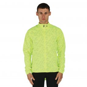 Men's Illume Reflective Waterproof Windshell Jacket Fluro Yellow