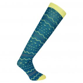 Adult Footloose II Ski Socks Titan Blue
