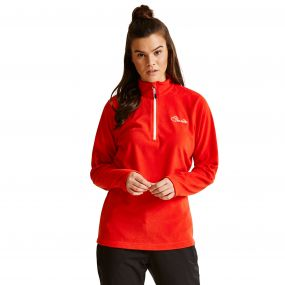 Women's Freeze Dry II Half Zip Fleece HighRisk Red