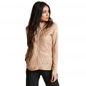 Women's Irised Core Stretch Midlayer ChampagneGld