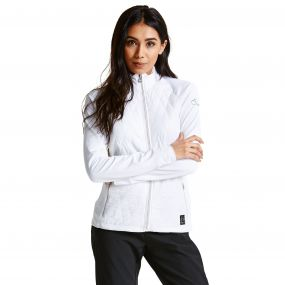 Women's Irised Core Stretch Midlayer White