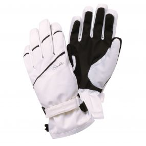 Women's Gapple Ski Gloves White