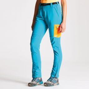 Women's Appressed Trousers Sea Breeze/Shocking Orange