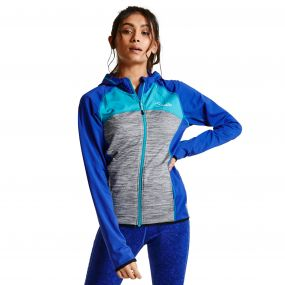 Women's Courtesy II Core Stretch Midlayer Jacket Clemats/MidG