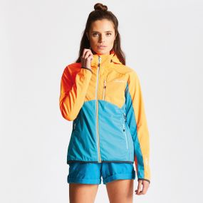 Women's Tractile Softshell Shocking Orange Sea Breeze