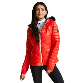 Women's Endow II Luxe Ski Jacket HighRisk Red