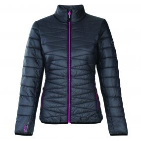 Women's Intertwine Insulated Jacket Ebony Grey