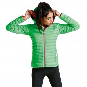 Women's Drawdown Down Fill Insulated Jacket Acid Green