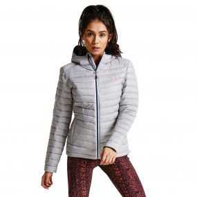 Women's Drawdown Down Fill Insulated Jacket Silver Flash