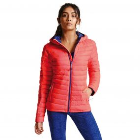 Women's Drawdown Down Fill Insulated Jacket Fiery Coral