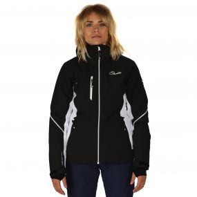 Etched Lines Ski Jacket Black