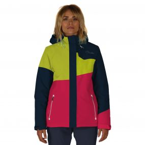 Shred Free Ski Jacket Pink Blue Neon