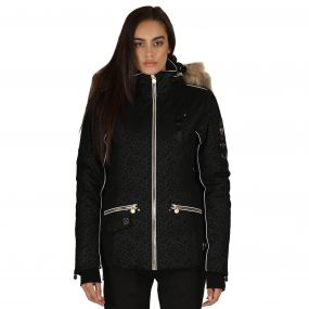 Incentivise Ski Jacket Black Leopard