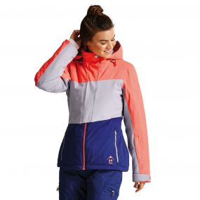 Women's Shred Free Ski Jacket FieryC/SlvFl