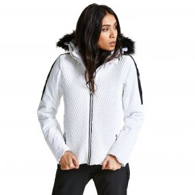 Women's Plica Luxe Ski Jacket White