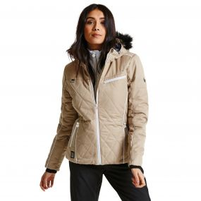 Women's Ornate Luxe Ski Jacket Cappuccino