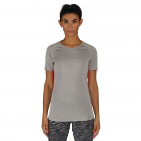 Women's Three Strikes T-Shirt  Ash GreyMarl