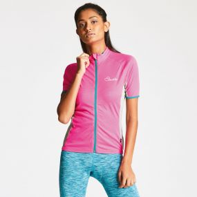 Women's Cachet Cycle Jersey Cyber Pink/Ash Grey