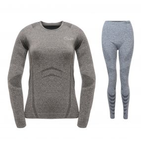 Womens Zonal III Base Layer Set Charcoal Grey