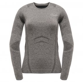 Womens Zonal III Long Sleeve T Charcoal Grey