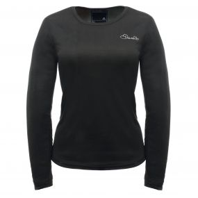Women's Insulate Long Sleeve Base Layer Top Black