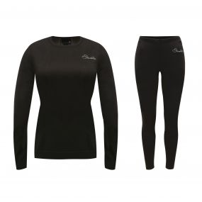 Womens In Mode Base Layer Set Black