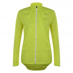 Womens Ensphere Packaway Jacket Fluro Yellow